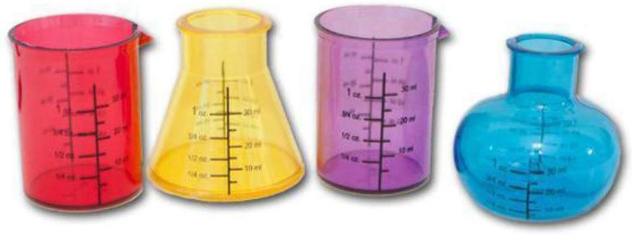 vasos precipitado de colores